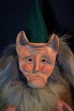 Eldrich the Snow Troll OOAK Fantasy Woodland Art by Refabrications  #artdoll #troll #ooak #ooakdoll #handmade #handmadedoll #plushie #fuzzy #furry #squishy #polymerclay #polymerclaydoll #gnome #goblin #monster #monsterdoll #art #clay #unusual #unique #refabrications #sculpted #sculpt #fur #fauxfur #fantasy #woodland #creature