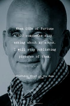 It's all about the socks for @TedRubin find out why on the Mass Amplify Show http://massamplifyshow.com #RonR