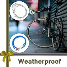 Bicycle lock #weatherproof 4 #digit security bike #cable gift idea for bicyclist ,  View more on the LINK: http://www.zeppy.io/product/gb/2/172016000971/