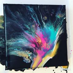 Fluid Acrylic Painting Video - Dutch pour technique using white, turquoise, amethyst, neon pink, gold and black. Acrylic Painting Techniques, Painting Videos, Acrylic Pouring Art, Acrylic Art, Abstract Paintings, Art Paintings, Landscape Paintings, Diy Canvas Art, Canvas Art Prints