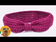 Tejido con ganchillo | Bandana en forma de lazo gigante | Tejido para principiantes | Tutorial - YouTube