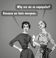 Why are we so unpopular