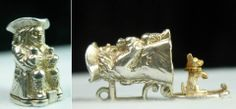 Sterling Silver Toby mug charm opens to a performing circus dog - sold for 99 usd