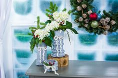 Kelly Edwards adds a festive touch to your décor with her adorable #Christmas sweater vases!