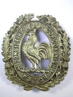 4th Vol.Bn (Donside Highland) Gordon Highlanders original Glengarry Cap Badge.  (from my collection)
