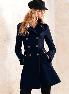 Wool Military Coat - Victoria's Secret. I'll take one in every color ; )