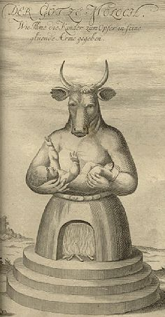 """Moloch was one of the false gods that Israel would worship during its periods of apostasy.  This false deity is associated with Ammon in 1 Kings 11:7, """"Then Solomon built a high place for Chemosh the detestable idol of Moab, on the mountain which is east of Jerusalem, and for Molech the detestable idol of the sons of Ammon.""""    One of the practices of the cult that worshipped Moloch was to sacrifice their children."""