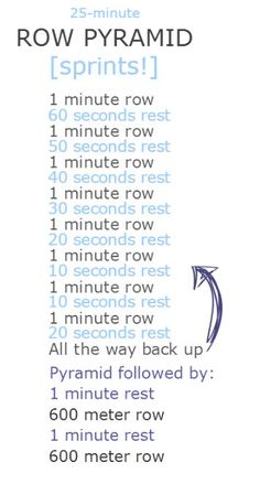 great #sprint workout on the rower! #row