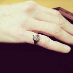 """""""Chevaliere"""" ring in 14-k yellow gold and diamonds by Naohiko Noguchi"""