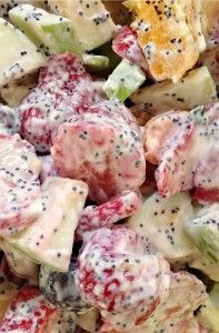 Recipe For  Bursting with Joy and Fresh Fruit Salad and Poppyseed Dressing