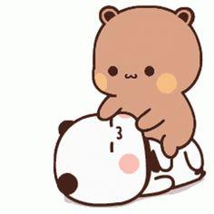 Cute Couple Cartoon, Cute Cartoon Pictures, Cute Couple Art, Cute Love Cartoons, Cute Anime Pics, Cute Love Gif, Cute Cat Gif, Cute Panda Wallpaper, Wallpaper Iphone Cute