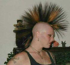 Bildergebnis für liberty spikes short hair Liberty Spikes, Punk Girls, Hairspray, Short Hair Styles, Dreadlocks, Beauty, Bob Styles, Hair Sprays, Short Hair Cuts