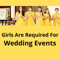 Need fair looking 30 girls for outdoor wedding events. Event locations are Gujarat, Rajasthan, Karnataka. The post Girls are required for wedding events appeared first on Jobs and Auditions.
