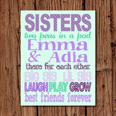 Would love to get this and frame it for the girls' room.  So sweet!