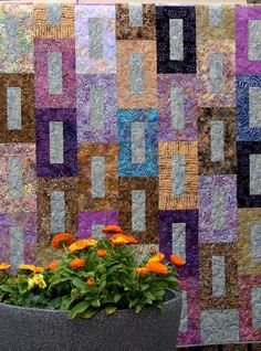 Beautiful Batik Quilt or Wall Hanging Warm and Rich by susiquilts