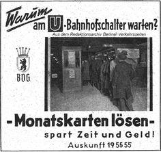 BVG Hinweis aus dem Jahr 1942