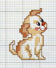 Cagnolino Cross Stitch Letters, Beaded Cross Stitch, Cross Stitch Baby, Cross Stitch Animals, Cross Stitch Charts, Cross Stitch Designs, Cross Stitch Embroidery, Stitch Patterns, Loom Patterns
