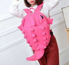 Students cute cartoon monster dinosaur backpack on Storenvy