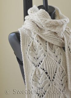 PDF Knitting Pattern for Double Orchid Scarf or Stole from SweaterBabe.com