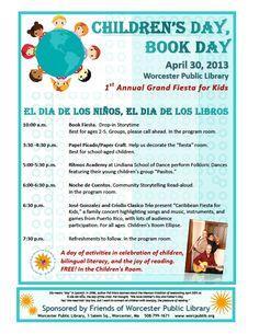 Event: April 30th: Children's Day, Book Day/El Dia de los Ninos, El Dia de los Libros