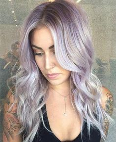 We've gathered our favorite ideas for 40 Charming Light Purple Hair Color Ideas — Elegance Is, Explore our list of popular images of 40 Charming Light Purple Hair Color Ideas — Elegance Is in pastel purple hair. Pastel Purple Hair, Light Purple Hair, Lilac Hair, Hair Color Purple, New Hair Colors, Blonde Color, Colorful Hair, Gray Hair, Silvery Purple Hair