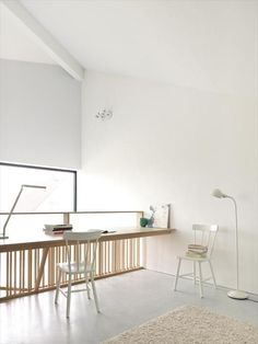 Le plus chaud Photos Bureau mezzanine Style Arch Interior, Interior Architecture, Interior And Exterior, Interior Decorating, Long Desk, Casa Loft, Interior Minimalista, Home Office Decor, Home Decor
