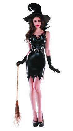 1b73fc308 Party King Liquid Black Witch Costume Women's Costume - Nastassy Sexy  Vampire Costume, Carnival Outfits