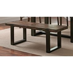 Coaster Company Wood and Metal Dining Bench