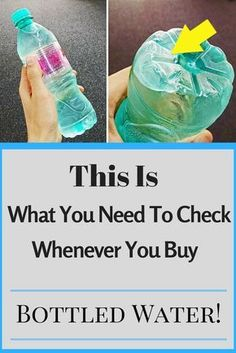 This Is What You Need To Check Whenever You Buy Bottled Water! This Is What You Need To Check Whenever You Buy Bottled Water! Natural Cures, Natural Health, Bottled Water, Water Bottles, Plastic Bottles, Healthy Tips, Healthy Food, Stay Healthy, Healthy Choices