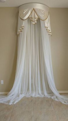Elegant Crown canopy (price includes crown, curtains and canopy frame). Queen Size Canopy Bed, Bed Crown Canopy, Canopy Bed Curtains, Canopy Frame, Bedroom Drapes, Curtains And Draperies, Window Drapes, Drapery, Canopies