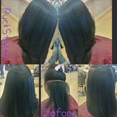 Before and after SilkPress by Ruckstyles