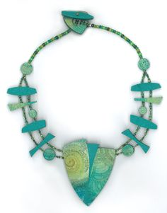 Caribbean Dreams necklace... made for this year's CraftWear exhibit at the League of NH Craftsmen's Fair