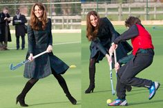 Kate Middleton Plays Field Hockey in McQueen - The Cut