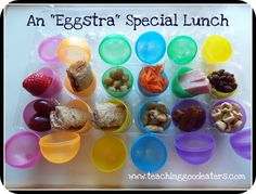Cute idea...Think we will try this for lunch this week. I know the kids will get a kick out of eating out of the eggs.