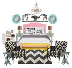 """""""Teenage girly bedroom:)"""" by geekyprincess on Polyvore featuring interior, interiors, interior design, home, home decor, interior decorating, Universal Lighting and Decor, Arteriors, Disney and PBteen"""