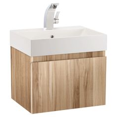 Mino 500 And Drawer Unit Basin   Oak   Bathstore