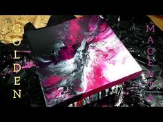 In this video I use: -Golden fluid in mars black and magenta. -Golden high flow in iridescent pearl -Liquitex Pouring Medium -GAC800 I pour the paints on a 1...