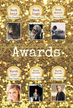This yearbook awards page is sure to dazzle your readers! Yearbook Pages, Thinking Outside The Box, Good Music, Awards, Glitter, Make It Yourself, Sequins