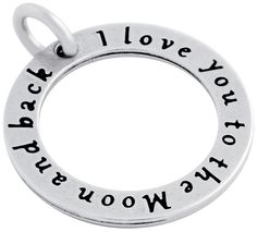 """ZDC1192 """"I LOVE YOU TO THE MOON"""" CIRCLE CHARM"""
