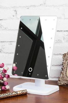 LED Makeup Mirror   White