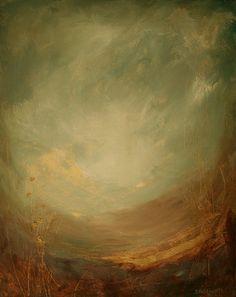 "Donna Holdsworth Contemporary Art: ""Gethsemane"" QOL#8 Contemporary Landscape Painting By Donna Holdsworth"