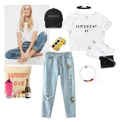 """""""🤘🏼"""" by elisheva-menashe ❤ liked on Polyvore featuring Free People, Nordstrom Rack, NIKE and Lemaire"""