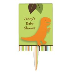 Shop Dinosaur Cake Topper Cupcake Topper created by PoshPartyPrints. Dinosaur Cake Toppers, Cupcake Toppers, Cake Picks, Personalized Cake Toppers, Dinosaur Party, Printing Process, Cute, Baby Showers, Color