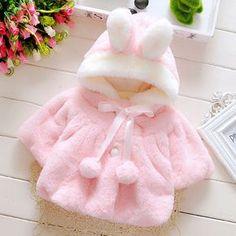 Buy Popular Baby Infant Girls Fur Winter Warm Coat Cloak Jacket Thick Warm Clothes at Wish - Shopping Made Fun Girls Winter Coats, Kids Coats, Winter Clothes, Warm Outfits, Kids Outfits, Baby Girl Jackets, Hooded Winter Coat, Baby Girl Winter, Baby Coat