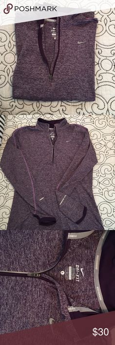 Nike Dri-fit running jacket Perfect condition Nike dri-fit jacket. Comfortable and light weight. Can be worn any season. Can use for layering when working out. Breathable material. Soft. Nike Jackets & Coats