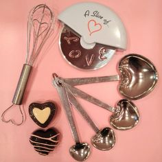 Treat your favourite pastry chef. Mini Heart Whisk, Heart Measuring Spoons, Love you pizza cutter + chocolate lip glosses. ‪#‎Valentinegift‬ ‪#‎pastrychef‬ ‪#‎pizzacutter‬ ‪#‎measuringspoons‬ ‪#‎baking‬ ‪#‎whisk‬ ‪#‎heart‬ ‪#‎lipgloss‬ ‪#‎chocolate‬ ‪#‎littleluxury‬
