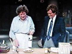Watch Julia Child with David Letterman julia cook, children, cook photo, beef recip, julia childs, cook guid, david letterman, cooking torch, cook beef