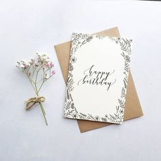 Are you interested in our Happy Birthday card? With our modern calligraphy card you need look no further.