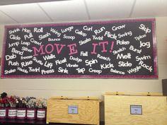 Jennifer Donovan's AWESOME movement bulletin board