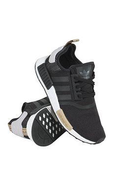 Adidas Women's NMD-R1 Running Shoes Black/Black/Purple